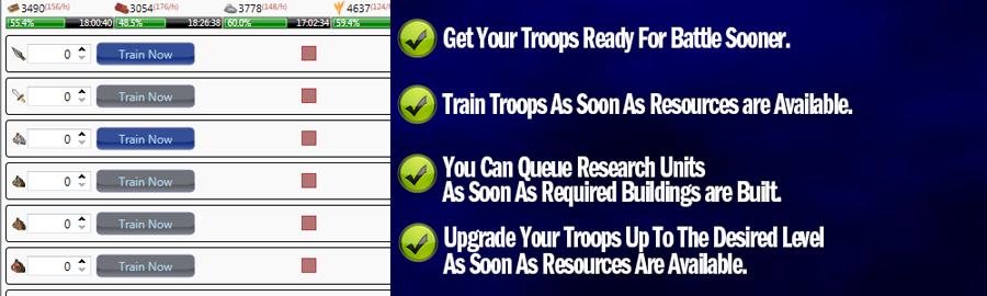 Travian Bot Train Troops