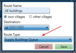Adding Supply Buildings Queue Route