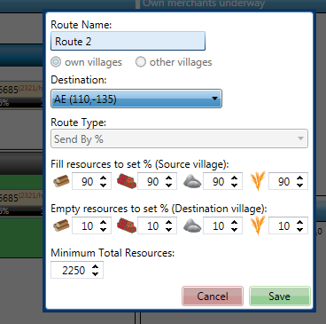 Editting Route