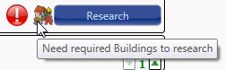 Troop needs prerequisite buildings to research