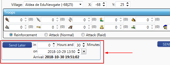 Scheduled Attacks options