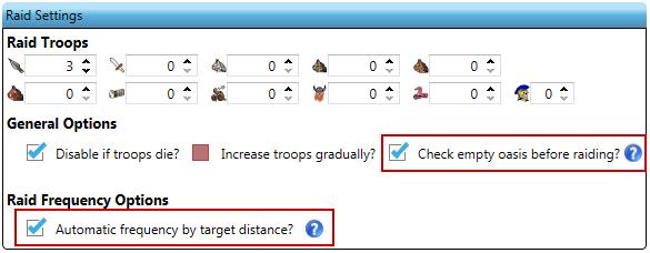 More Raid Settings options