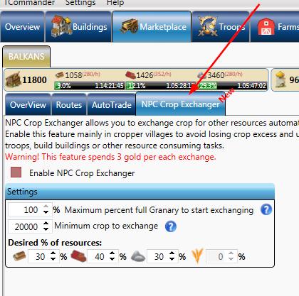NPC Crop Exchanger added – NPC automatic trading