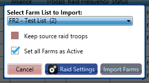 Gold Club Farms List Popup