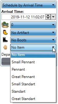 Hero Left-hand item options