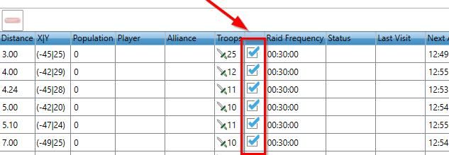 travian bot troops reservation feature